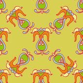 Wild Flower Pattern — Stock Vector