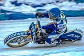 Moto de course sur glace — Photo