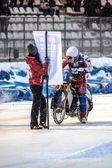 Moto de course sur glace — Photo