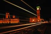 Big Ben and Westminster Abbey at night — Stock Photo