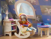 Doll in a chair — Stock Photo