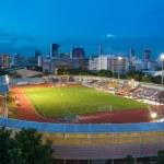 Football stadium in the evening, Thailand — Stock Photo #67730161