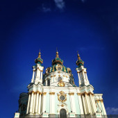 St. Andrew's Church on blue sky background — Stock Photo