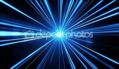 Blue light streaks. Abstract motion background. — Stock Video