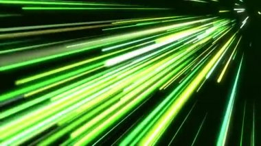 Green light streaks. Abstract motion background. — Stock Video