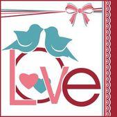 Postcard Love — Stock Vector