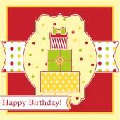 Postcard Birthday — Stock Vector