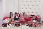Wedding candy bar — Stock Photo