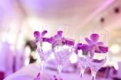 結婚式の日にワインを 4 杯 — ストック写真