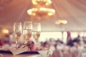Glas vin på en restaurang — Stockfoto