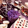 Mix of wedding sweets on table — Stock Photo #74287885