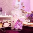 Mix of wedding sweets on table — Stock Photo #74287923
