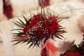 Červené Kytice svatební — Stock fotografie
