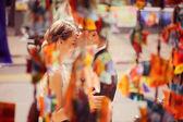 Groom kissing the bride — Stock Photo