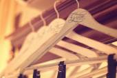 Personalized hangers for groom and groomsmen — Stock Photo