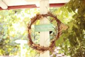 Sinal da casa casamento — Fotografia Stock
