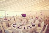 Beautifully decorated wedding table — Stock Photo