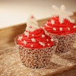 Two red cupcakes — Stock Photo #74883639
