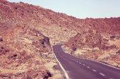 Road in El Teide National Park, Tenerife — Stock Photo