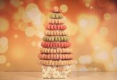 Pirámide de macarons surtidos — Foto de Stock