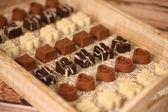 Assortierte Mini Schokoladen Bonbons — Stockfoto