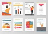 Selfie infographics elements — Stockvektor
