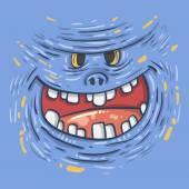 Cartoon funny monster — Stock Vector