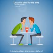 Gay card. Protection of minorities — Stock Vector