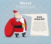 Strong Santa and speech — Wektor stockowy