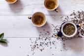 Cups of fresh tea — Stock Photo