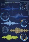 Futuristic graphic user interface — Stock Vector