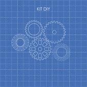 DIY KIT with gear — Stock Vector