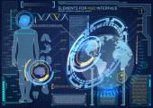 Bio-engineering interface elements — Stock Vector