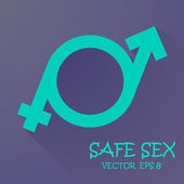 Symbol of masculinity and femininity — Stock Vector