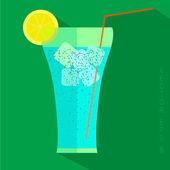 Juice glass icon. — Stock Vector