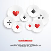 Abstract vector background with playing cards elements — Stockvektor