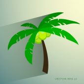Palm tree isolated on white photo-realistic vector illustration — Stock Vector