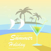 Vector summer background with holiday elements — Stock Vector