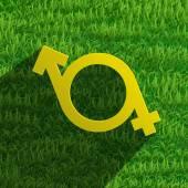 Male and female symbols icon vector — Stock Vector