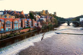 River view . Durham is a city in north east England. — Stock Photo