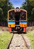 Beautiful Thai diesel train — Stock Photo