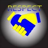 Respect. Poignée de main — Vecteur