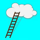 Stairway to the cloud — Stock Vector