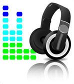 Headphones equalizer — Stock Vector
