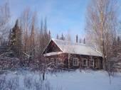 Brown rural house — Stockfoto