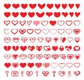 Heart Vector Shapes Set — Stock Vector