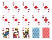 Playing Cards - Diamonds Set — Vettoriale Stock