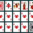 Halloween Playing Cards - Hearts Set — Stock Vector #78384876