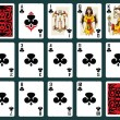 Halloween Playing Cards - Clubs Set — Stock Vector #78384878