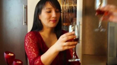 Girl is blowing a candle — Stock Video